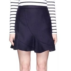 J.Crew Navy blue Flutter Mini skirt size 00
